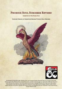 Phoenix Soul Sorcerer Revised erhält Kupfer auf der DMs Guild